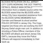 JCPD memo: JC Bloods have called for backup to kill another officer