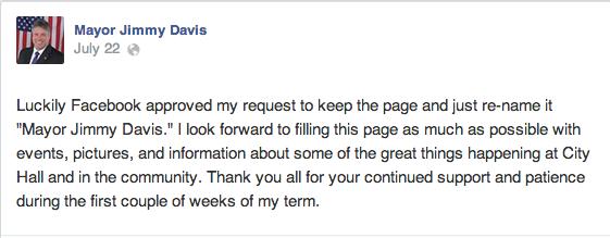 jimmy davis fb post on writing on fb page