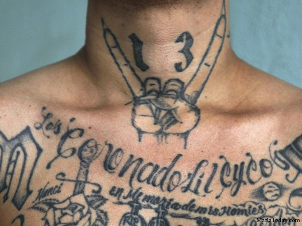 A former leader of the Mara Salvatrucha (MS -13) gang, poses during a photo session at Comayagua jail in Honduras June 11, 2011.  (Edgard Garrido/Courtesy Reuters).