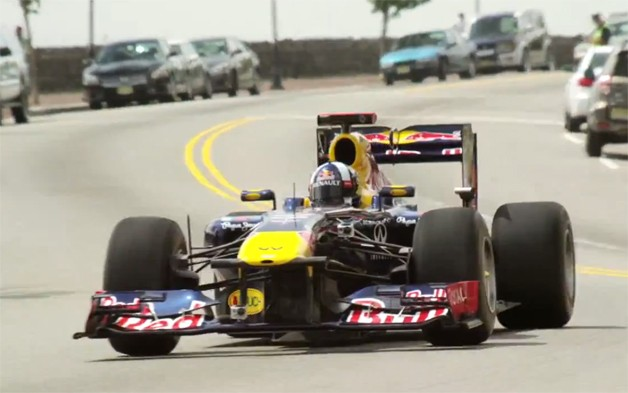 Red Bull Formula 1 race car in the midst of a race. Photo courtesy of Autoblog.com.