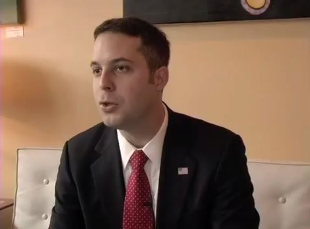 A screenshot from a Feb. 12, 2009 YouTube video where Peter Cammarano announced his candidacy for Hoboken Mayor.