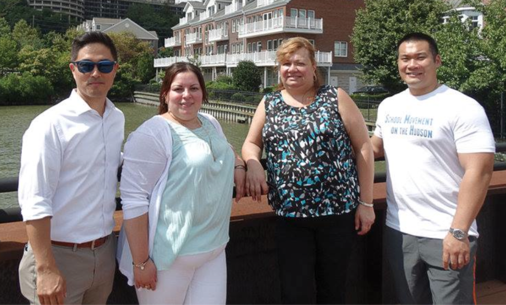 Facebook photo of the M.A.T.H. team. From left to right: Henry Song, Monica Parra, Ana M. Cerqueira and Thomas Leung.