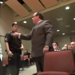 Roque, Betancourt campaign manager, trade words at WNY BOE meeting