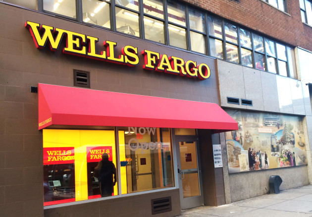 A stock image of a Wells Fargo Bank from Union Square Blog.