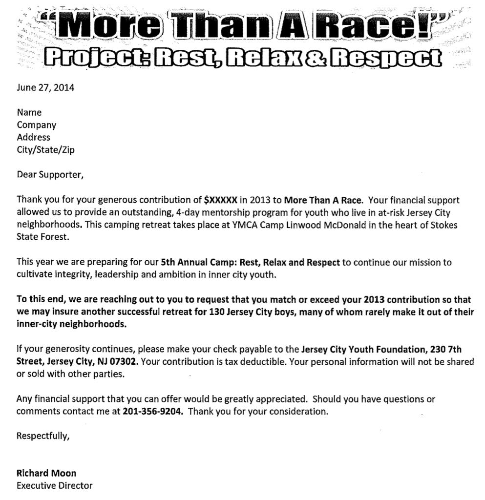 2014 MTR Fundraising Letter