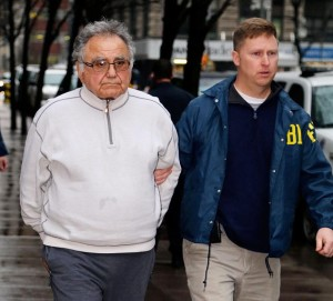 Carmine Franco being arrested by the FBI on January 16, 2013. Photo by Jason Siegel/New York Daily News.