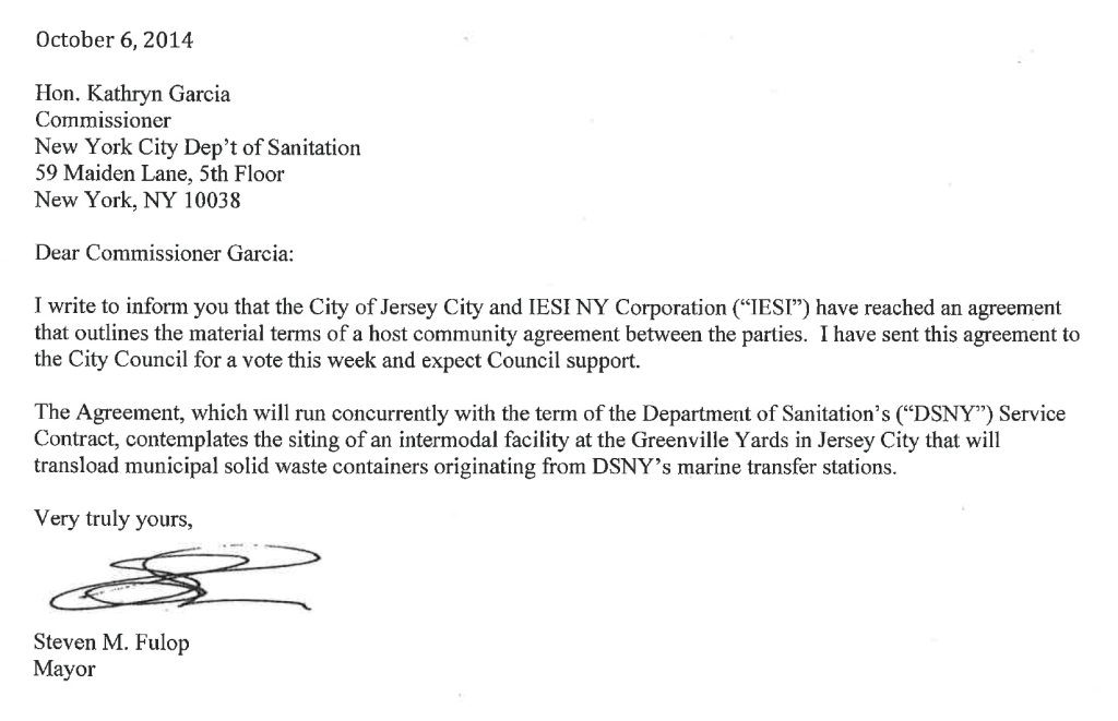 NYC DOS Letter OPRA