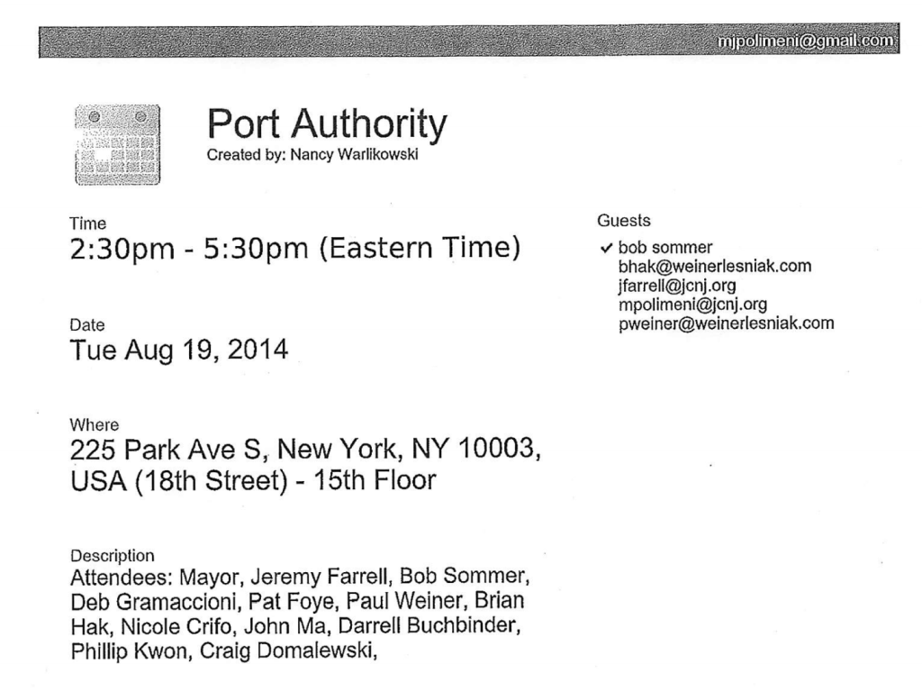 Port Authority Meeting