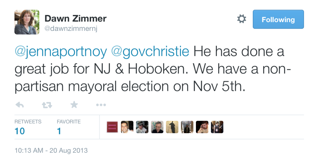 Dawn Zimmer Christie Tweet