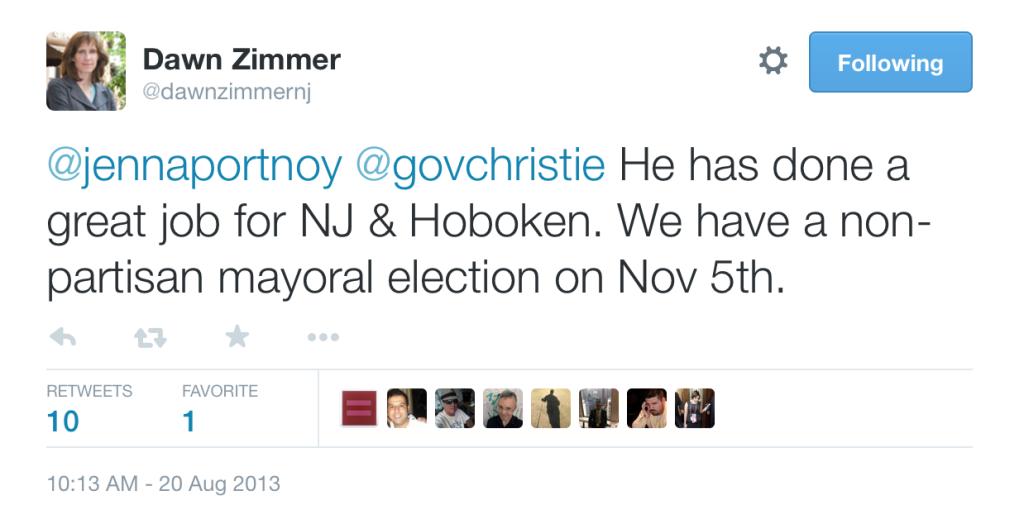 Dawn Zimmer Christie Tweet