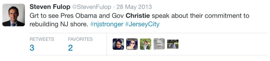 Fulop Christie Tweet