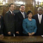 Four new Hudson County Freeholders sworn in, Maldonado named 2015 chairman