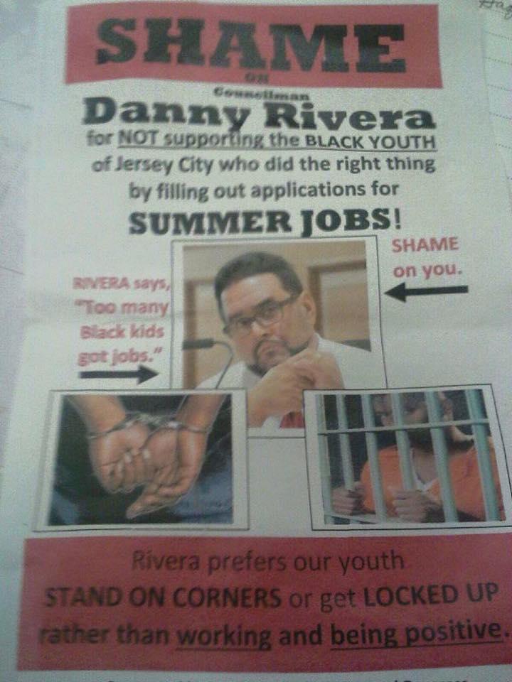 Daniel Rivera Racist Flyer