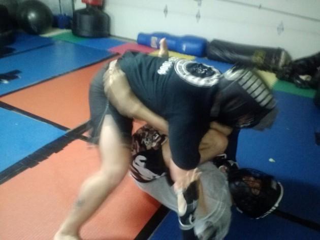 Hernandez sparring