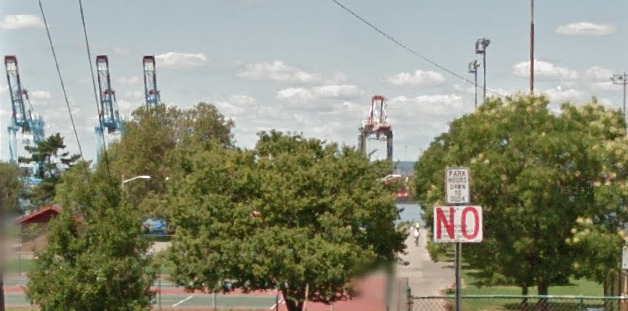 A screenshot of Bayonne's 16th St. Park from Google Maps.