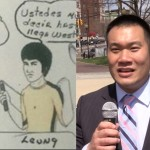 West New York commissioner candidate Leung reacts to racist, sacrilegious flyer
