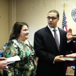 West New York Mayor Felix Roque and the board of commissioners formally sworn in