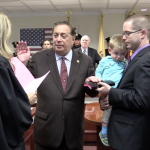 North Bergen Mayor Nick Sacco and the board of commissioners formally sworn in