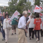 Union workers picket outside CarePoint Health in midst of contract negotiations
