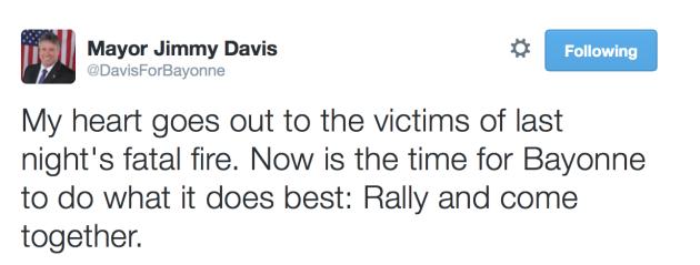 Davis fire tweet