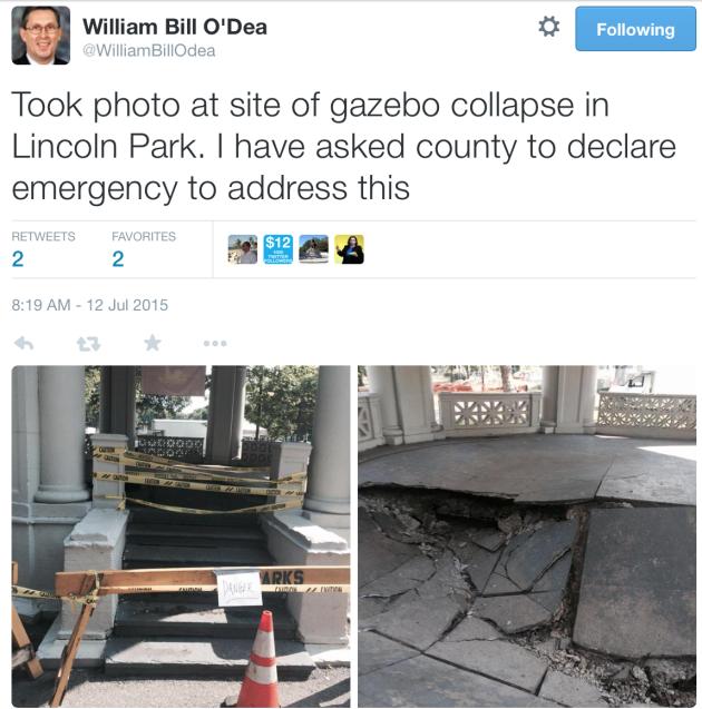 O'Dea park tweet