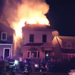 Three-alarm fire burns through Kearny household, cause under investigation