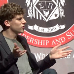 Jesse Eisenberg, the silver screen's latest Lex Luthor, promotes book at NJCU