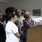 Dozens of county welfare workers storm freeholder meeting demanding changes