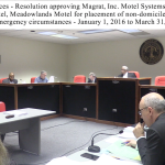 Freeholders approve $26k for emergency shelters, cleanliness being addressed