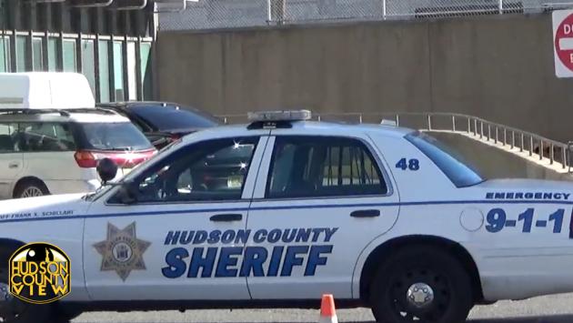 Hudson County Sheriff's car