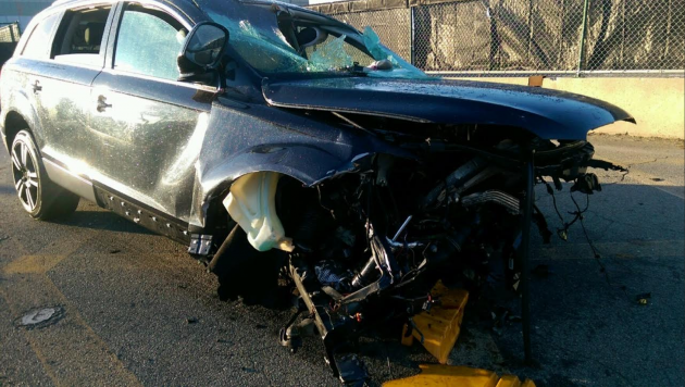 Police man crashes car on bayonne bridge passenger goes for Hudson county motor vehicle