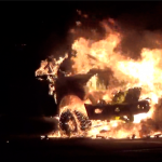 NHRF&R extinguishes massive car fire in North Bergen Sonic parking lot