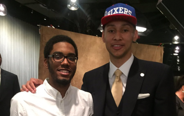 Zack (left) and Ben Simmons. Twitter photo.