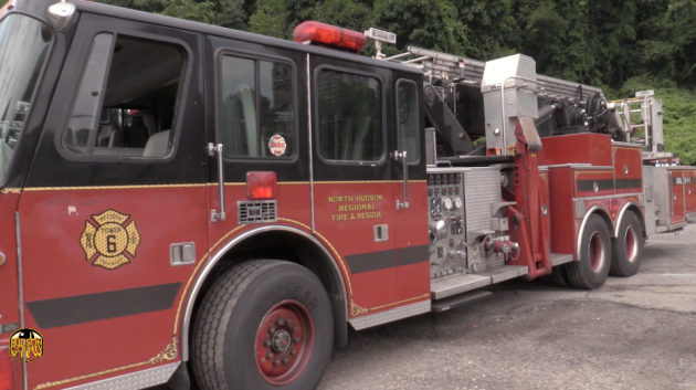 6e19453cbfd Firefighters from North Hudson Regional Fire   Rescue saved a man who got  his finger caught in an electric mixer while working on a construction  project in ...