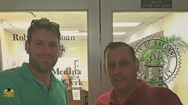 Ryan Walker (left) and Bayonne 2nd Ward Councilman Sal Gullace.