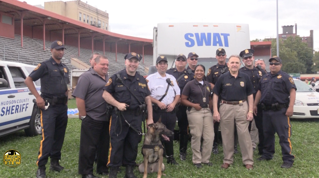 Members of the Hudson County Sheriff's Office participating in West New York National Night Out in 2016.