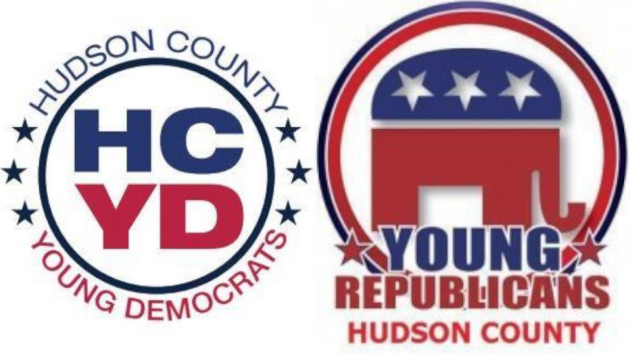 The Hudson County Young Democrats and Republicans will square off in a debate next week. Photos via Facebook.
