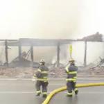Dozens of firefighters battling 5-alarm blaze at North Bergen furniture store