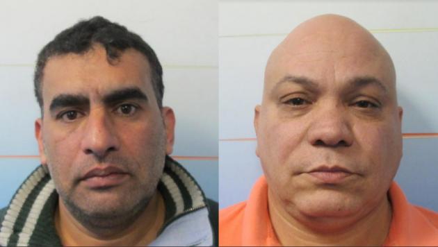 Rainy Bekhit (left) and Carlos Rojas. Photos courtesy of Port Authority police.