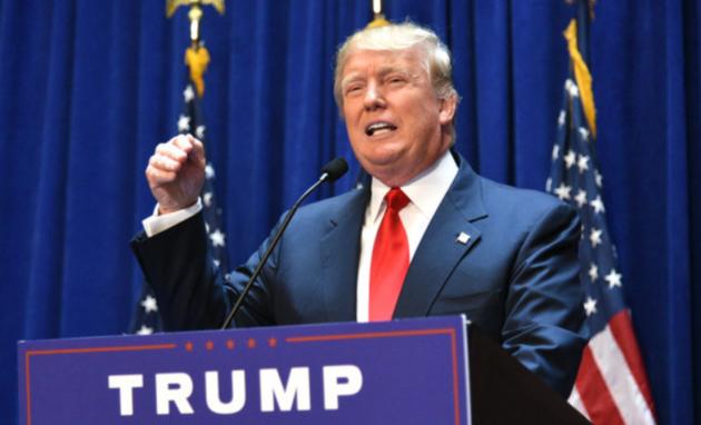 President Donald Trump. Photo by Erik Pendzich/REX USA.