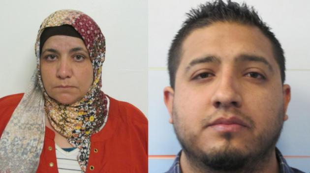 Somaya Elkaramany (left) and Washington Cevallos-Vega. Photos courtesy of Port Authority police.