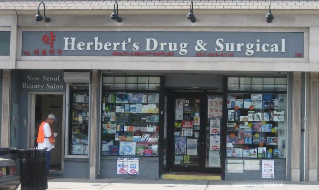 Herbert's Drug & Surgical in Jersey City. Photo via Google Maps.