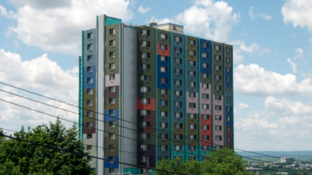 North Bergen Housing Authority's Cullum Tower. Photo via northbergenhousing.com.