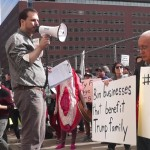 'No respect, no profit!' Trump, Kushner protesters rally in Jersey City