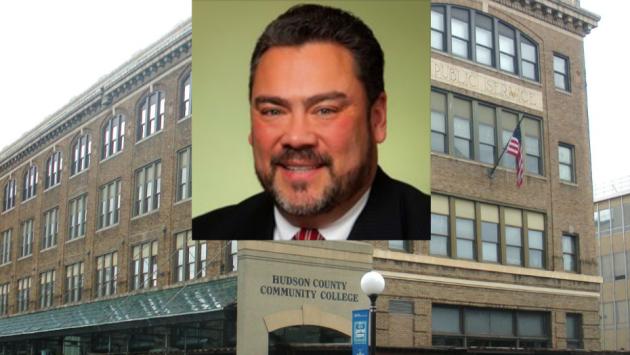 Former Hudson County Community College Executive Director of Operations Frank Mercado. Photos via Wikipedia, Facebook.