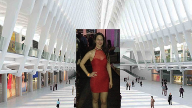 Jennifer Santos died early this morning after a fall inside the World Trade Center Oculus. Photos via panynj.gov, Facebook.