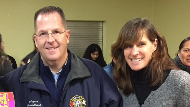 State Senator (D-33)/Union City Mayor Brian Stack and Hoboken Mayor Dawn Zimmer. Photo courtesy of Zimmer campaign.