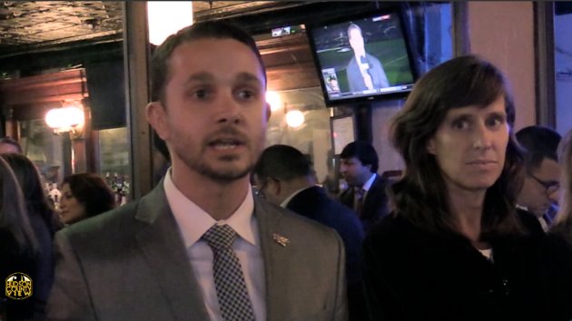 Now-1st Ward Councilman Mike DeFusco at an October 6, 2015 event where he was one of five candidates endorsed by Mayor Dawn Zimmer.