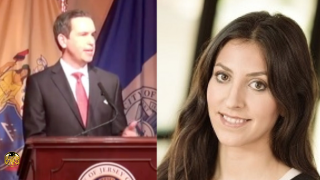 Jersey City Mayor Steven Fulop and New Jersey Drug Policy Alliance Policy Manager Alexandra Staropoli.
