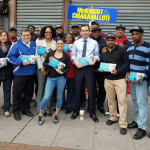 Fulop campaigns with Assembly members McKnight, Chiaravalloti in Jersey City